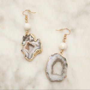 Marble statement earrings